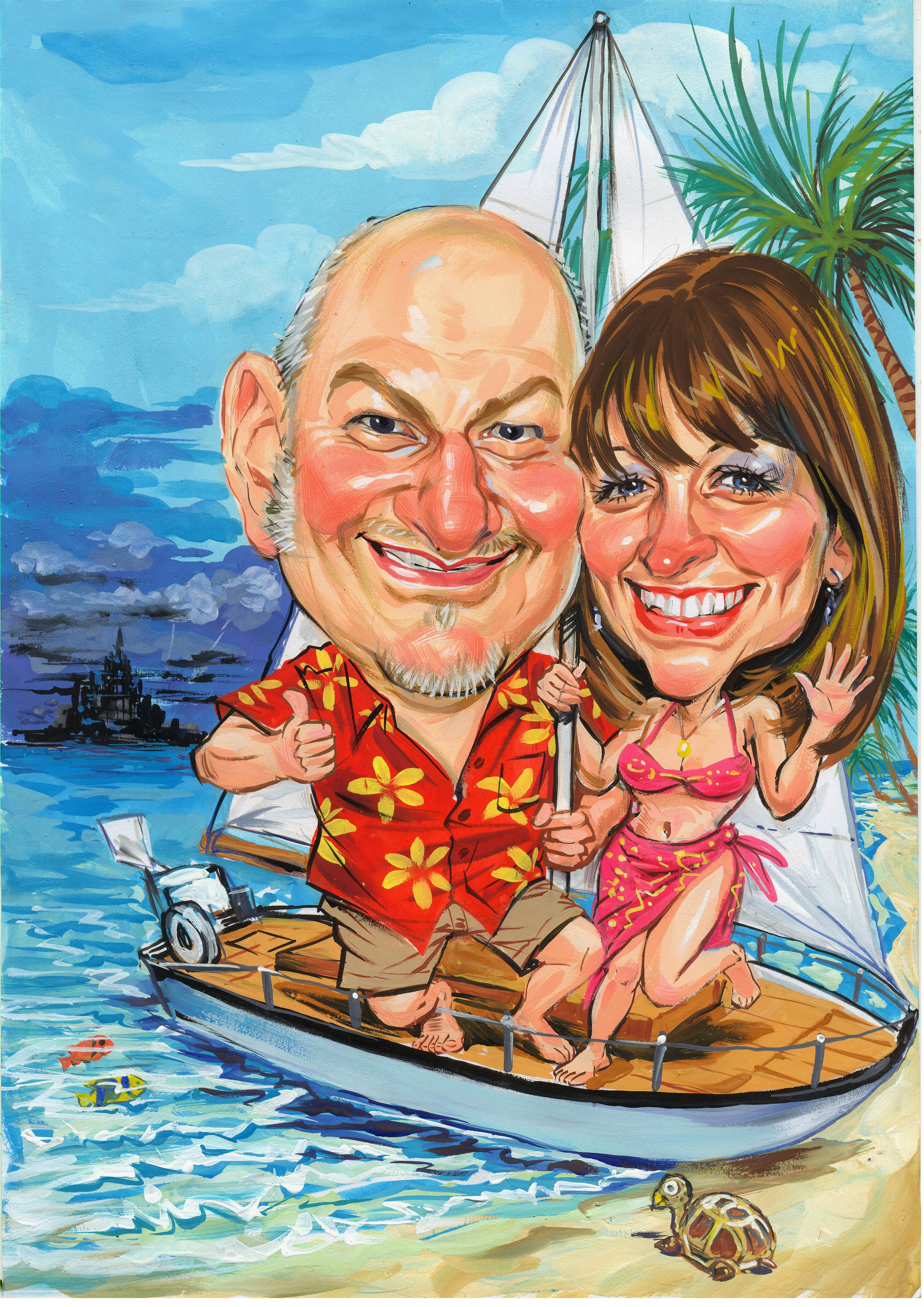 Funny Couple Funny couples, Caricature gifts, Wedding