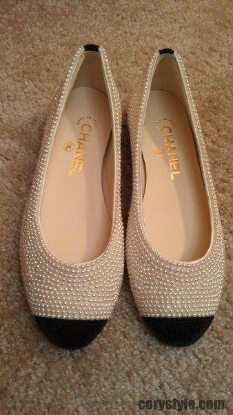 3e70e90ba1f Chanel pearl embellished flats Chanel Pearls