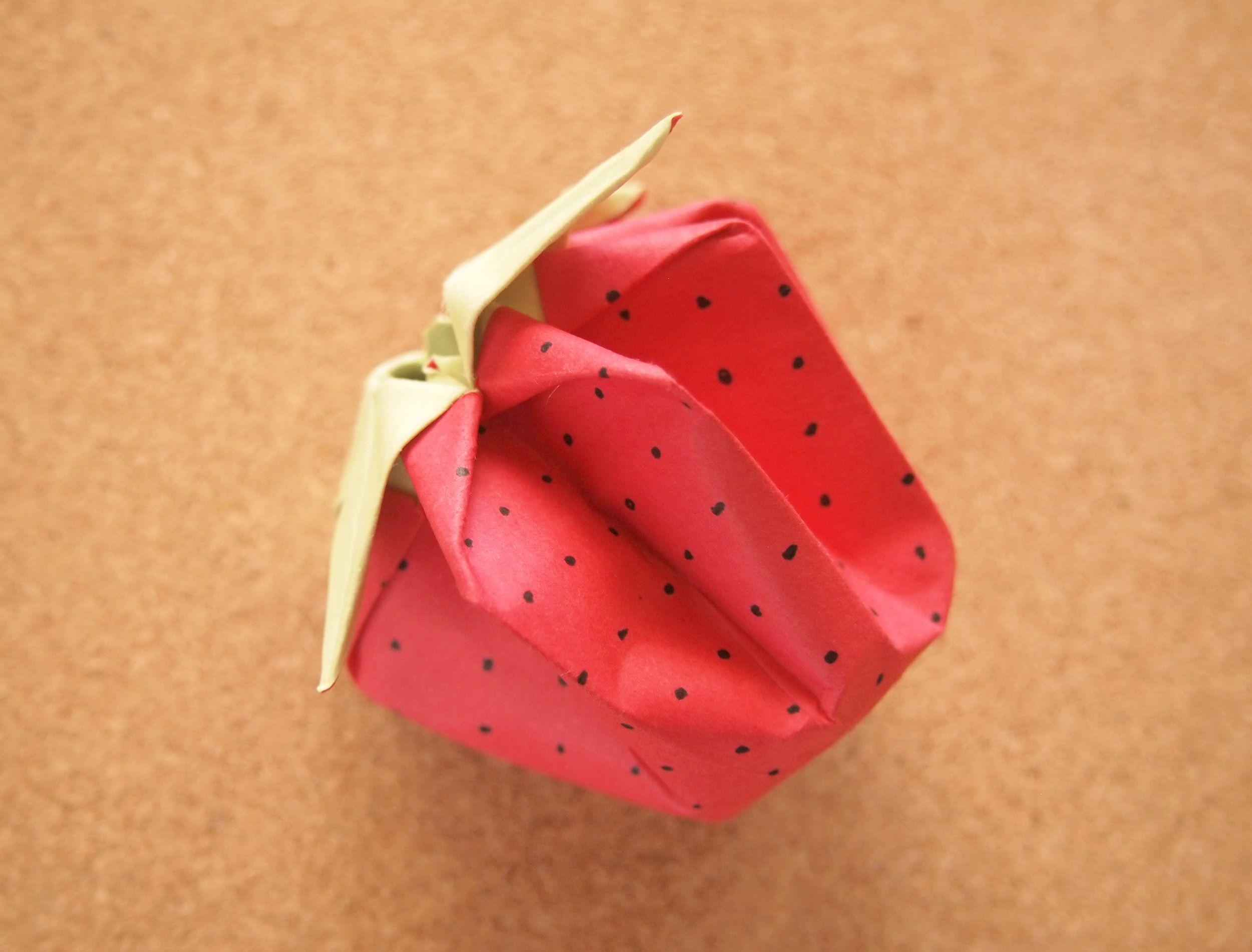 wikiHow to Fold Strawberry Origami -- via wikiHow.com #DIY #Crafts #Kids