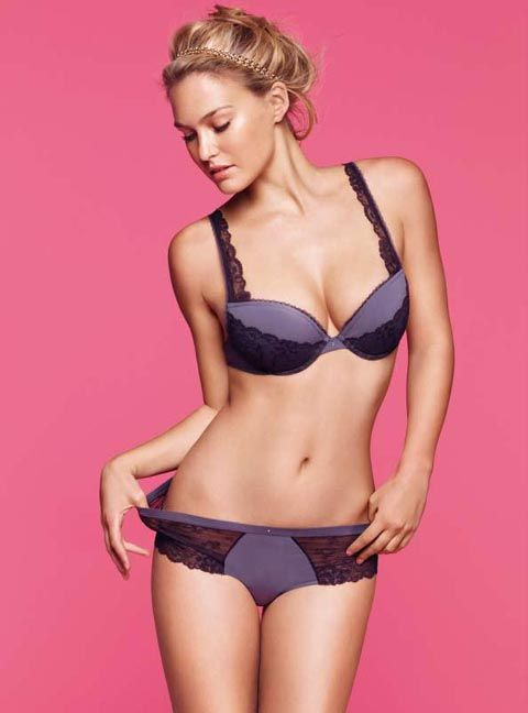 3bb9ed2d8a bar refaeli for passionata. love the simple accessories and coloured  background.