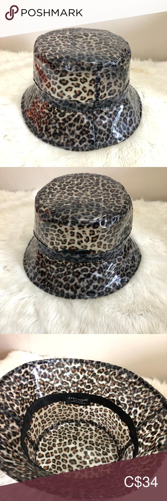 Zara Leopard Pvc Rain Hat Sheer Rain Hat Zara Sheer Material