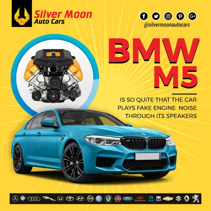 The engine in the BMW M5 is so quiet, that the car plays fake engine