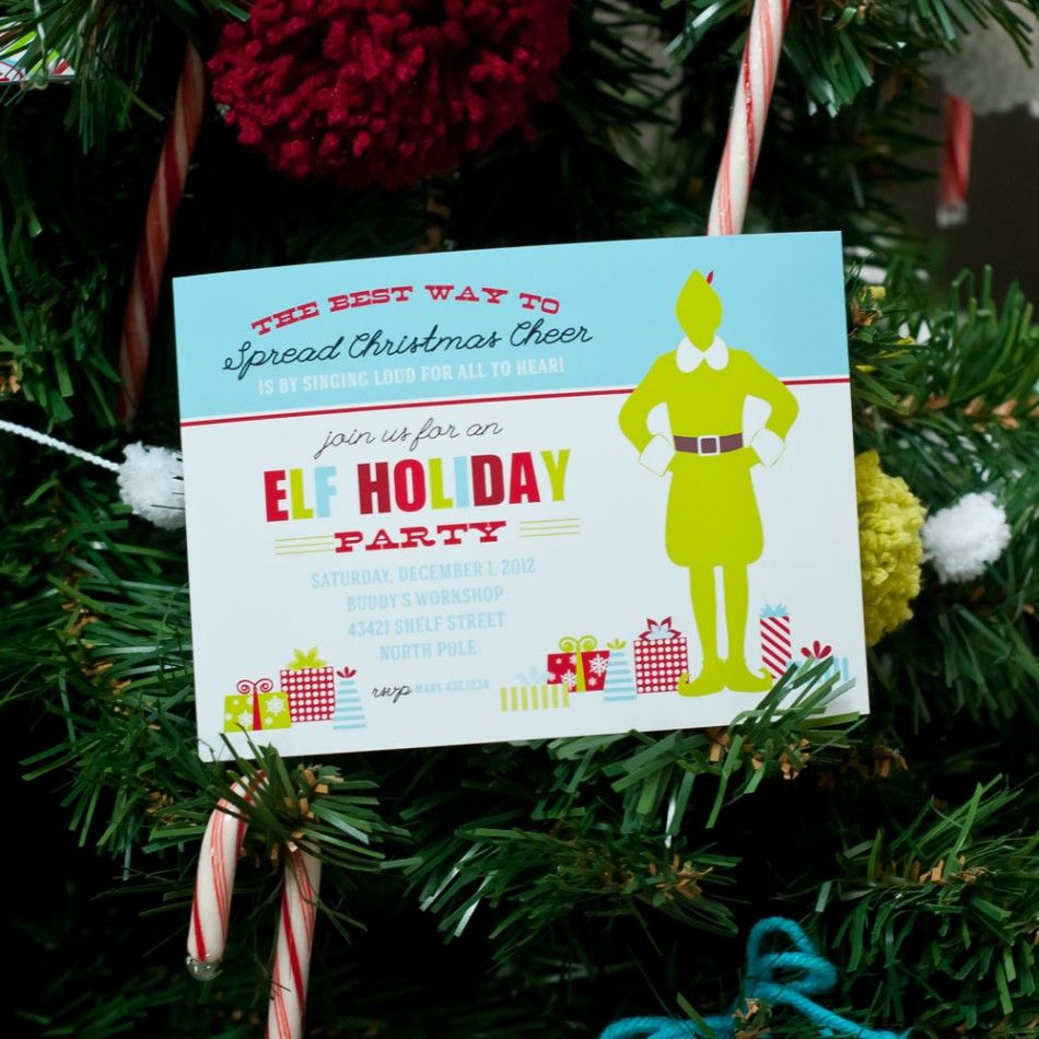 Buddy the Elf Christmas Party Printable Invitation   Elf the Movie ...
