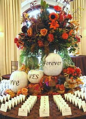 Wedding wednesday pumpkin wedding details wedding for White pumpkin table decorations