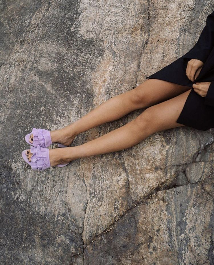Lisa Olsson in jennie-ellen purple leather sandals  894564a861815