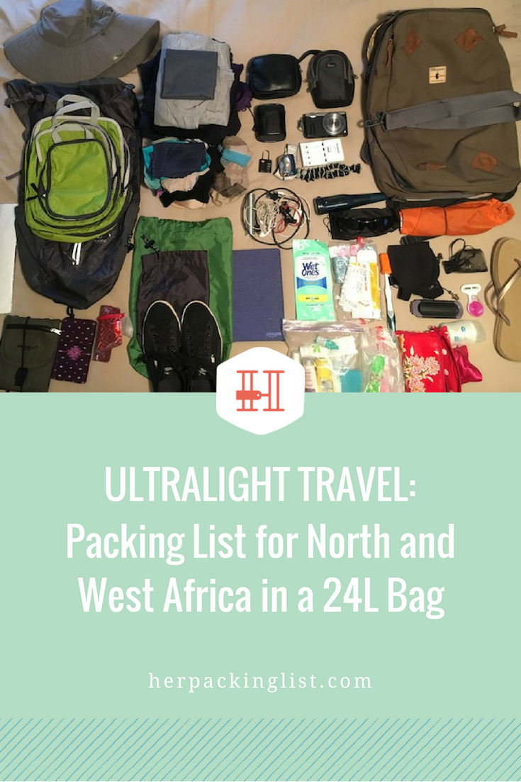 Ultralight Travel  Packing List for North and West Africa in a 24L ... 04ddaba4f45b1