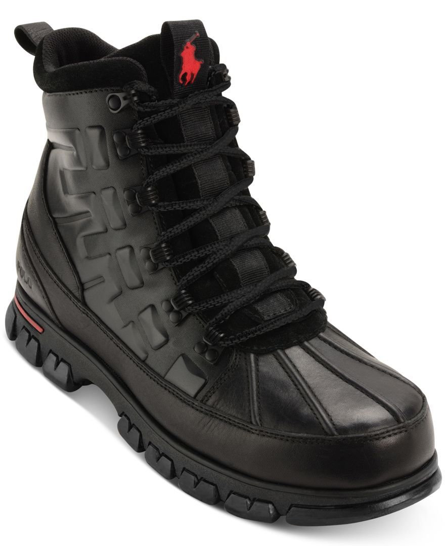 new style ecd37 90eed Polo Ralph Lauren helps keep your feet warm and dry all winter with these  sturdy, stylish winter boots.   Leather upper  rubber sole   Imported    Apron toe ...