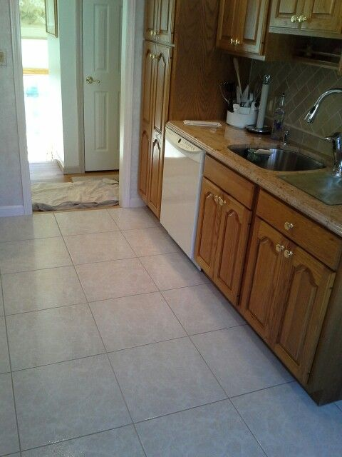 Kitchen floor tile and grout cleaning and color sealing service ...