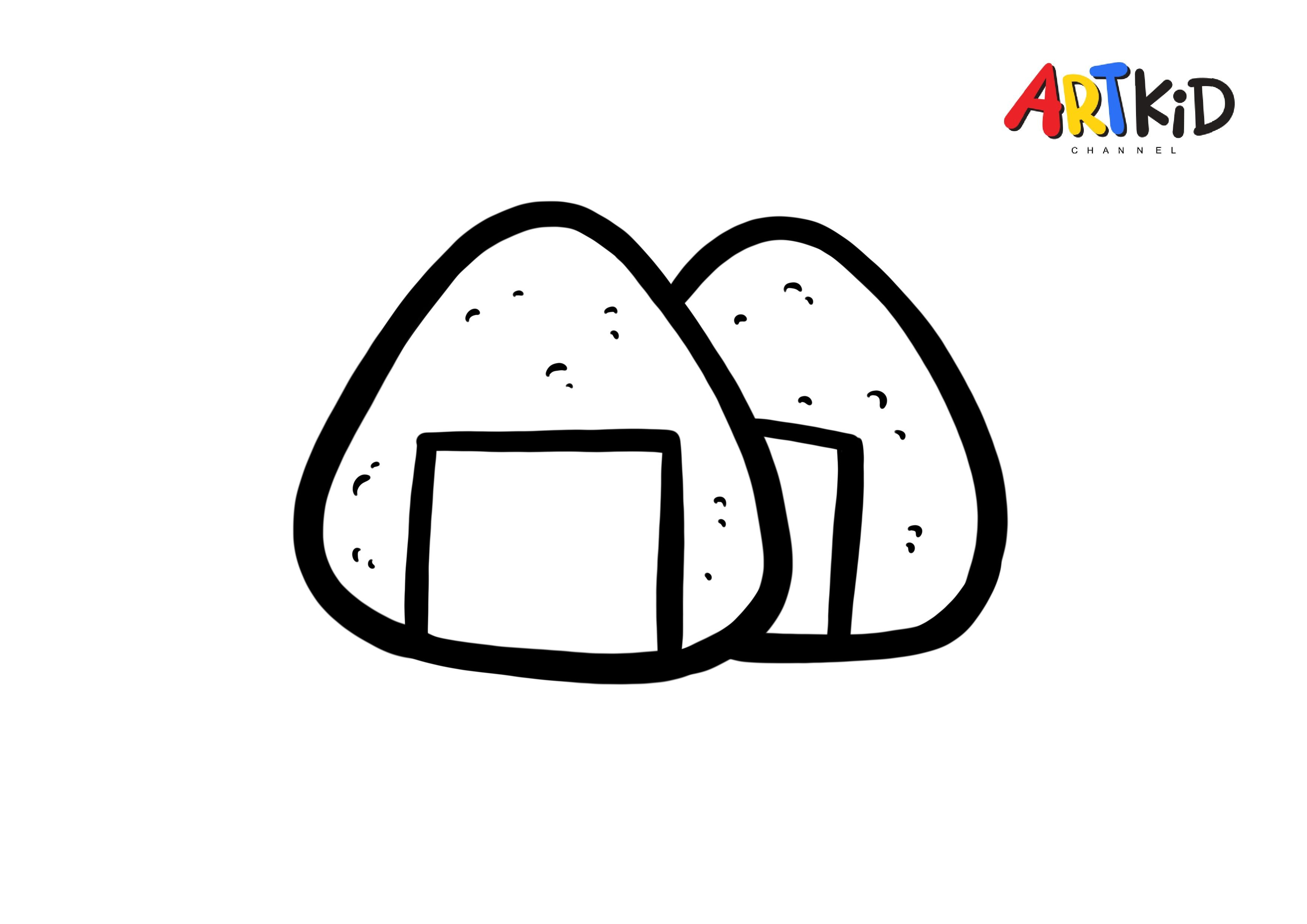 Rice Ball Drawing Free Printable Coloring Pages
