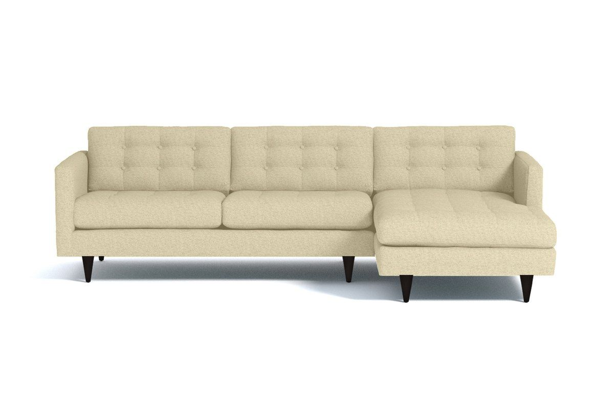 Beverly 2pc Sectional Sofa Leg Finish Pecan Configuration