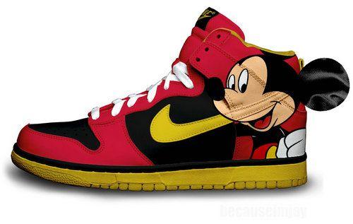Mickey Mouse Nike Dunks New | Nike free
