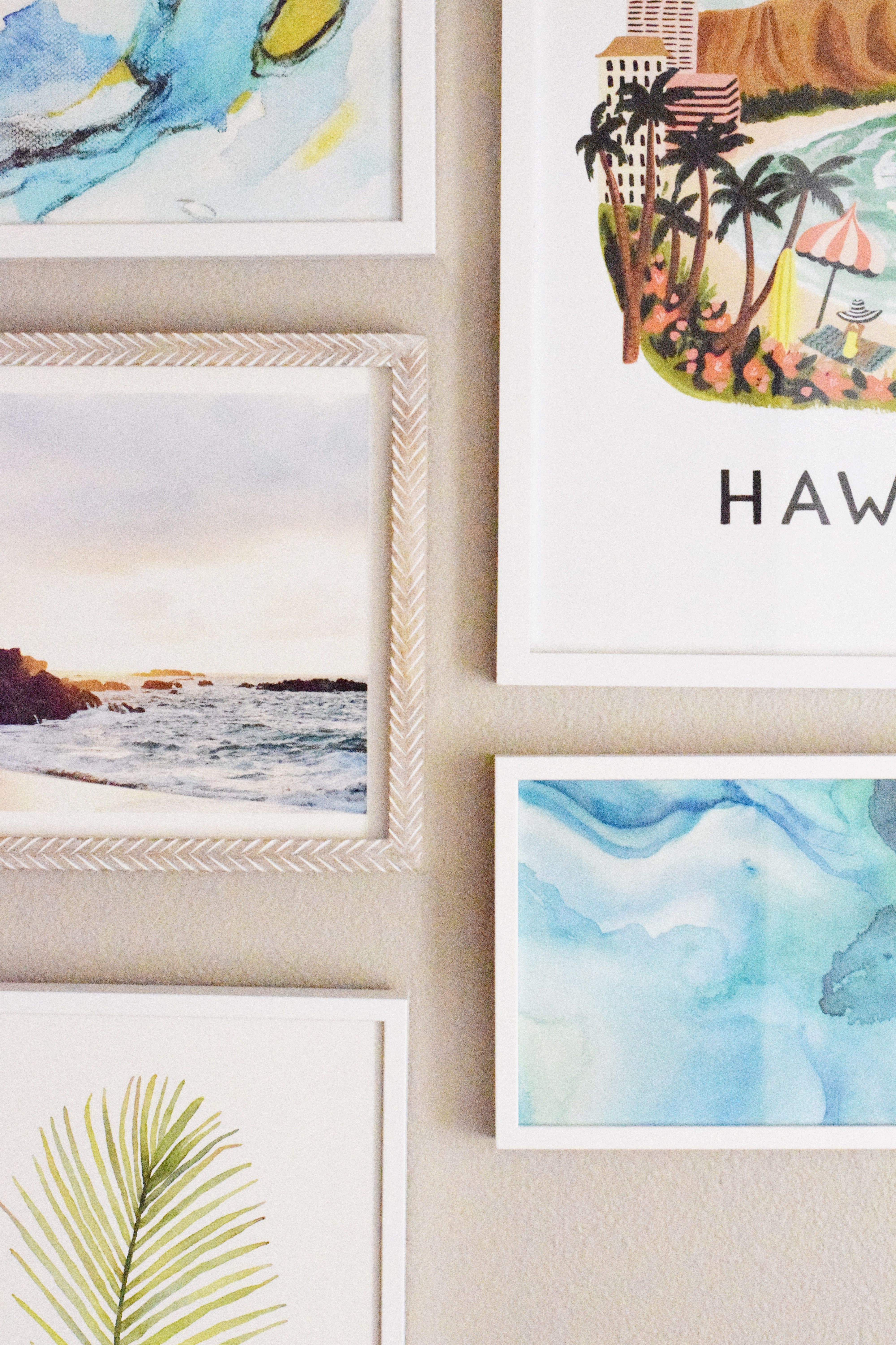 Hawaiian Gallery Wall