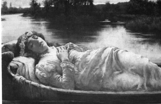 the lady of shalott by william a breakspeare oil on  the lady of shalott by william a breakspeare 1872 1903 oil