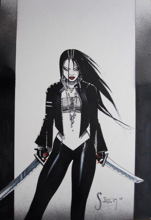 Sin City's Miho by Simon Bisley