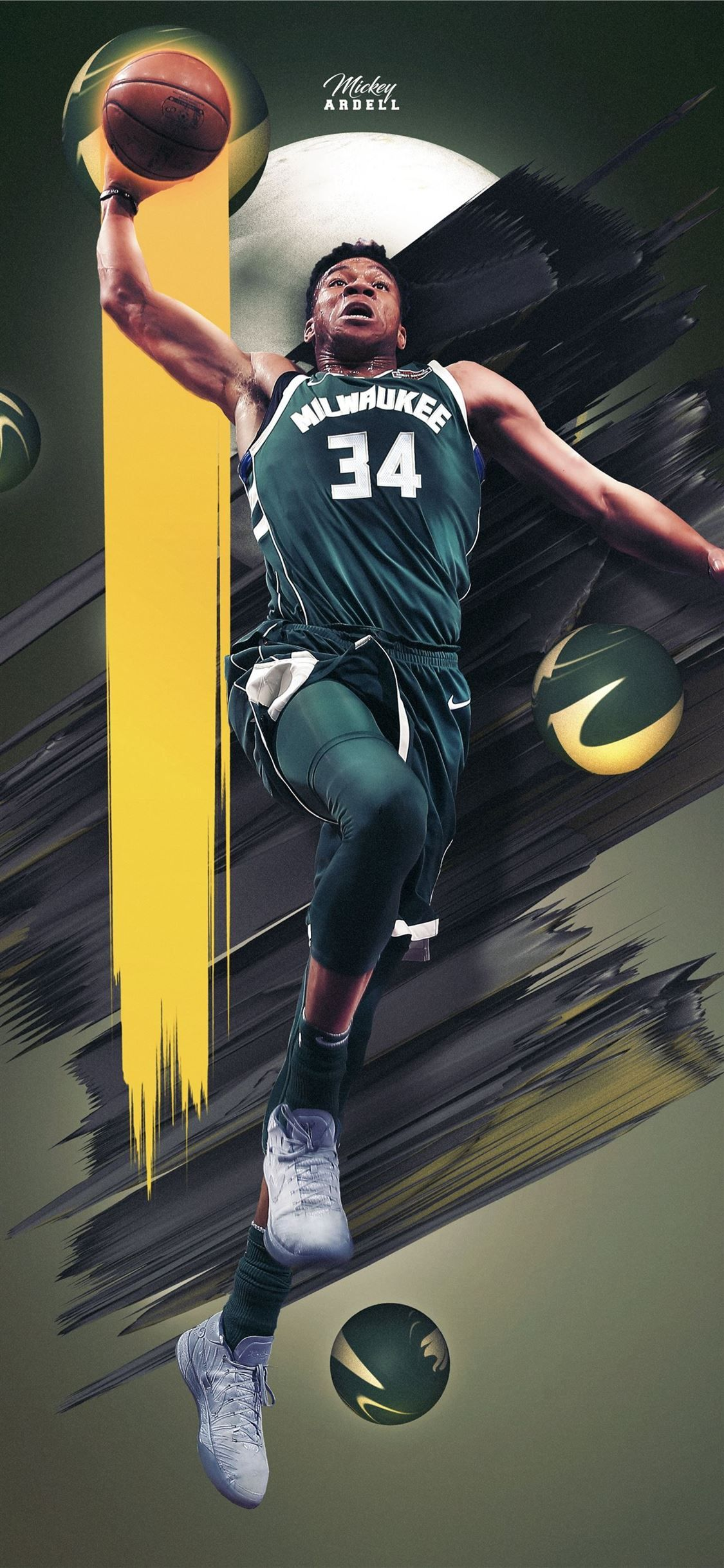 Giannis Milwaukee Bucks Nba Art Wmcskills Giannisantetokounmpo Sportcelebrity Basketballcelebrity In 2020 Nba Art Giannis Antetokounmpo Wallpaper Nba Basketball Art
