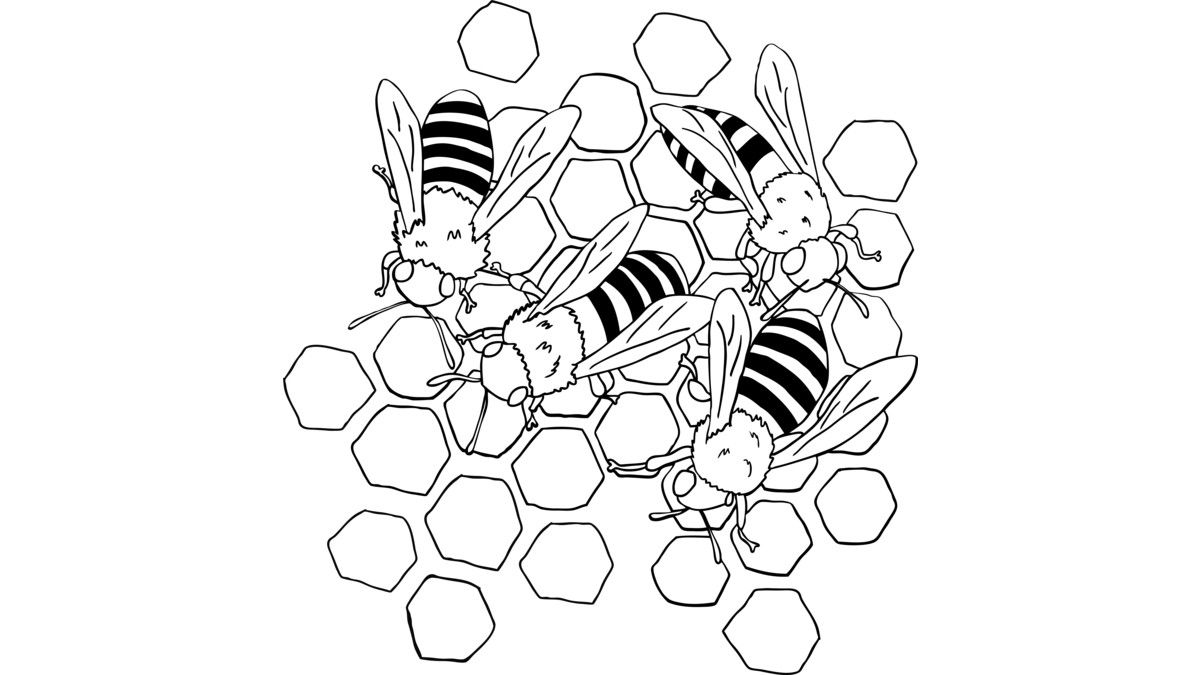 The Busy Bees is a Crewneck designed by aglomeradesign to illustrate your life and is available at Design By Humans