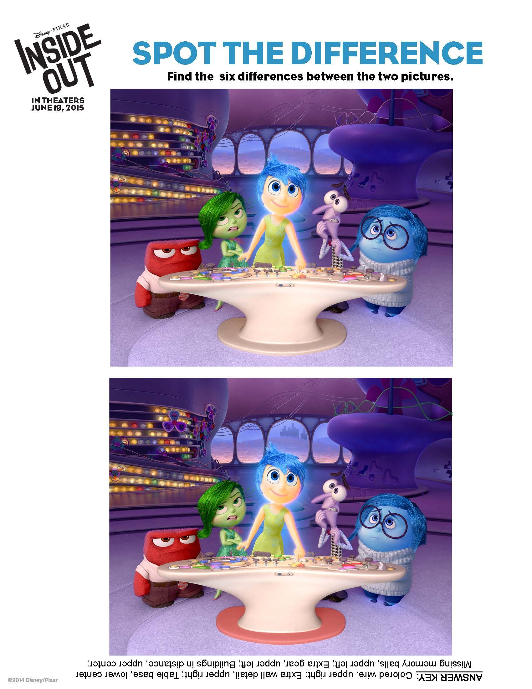 Free Inside Out Printables Including This Spot The