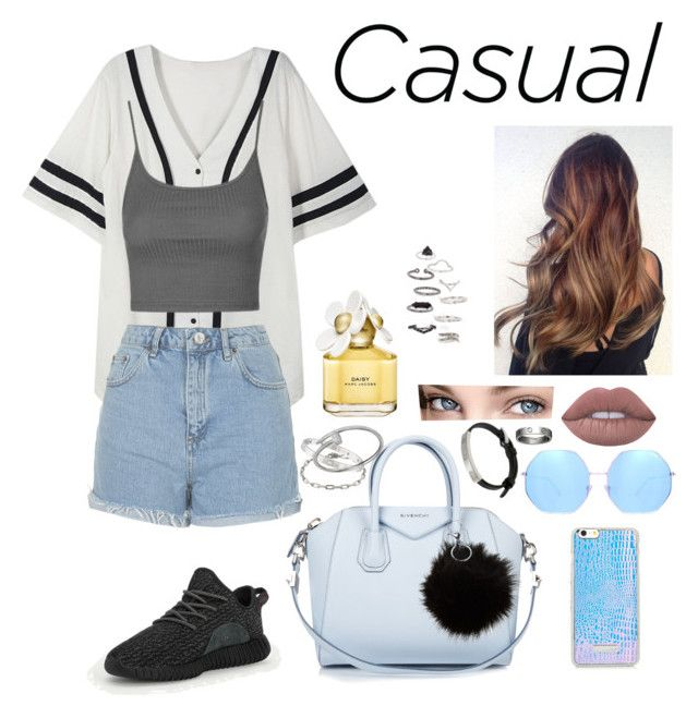 """""""Sin título #126"""" by fweakydarcy on Polyvore featuring moda, adidas, Topshop, Givenchy, Quay, Cartier, Lime Crime y Marc Jacobs"""