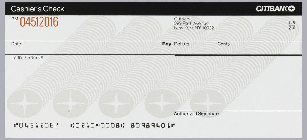 Citibank Check All You Need To Know About Citibank Check Cashier S Check Printable Checks Receipt Template