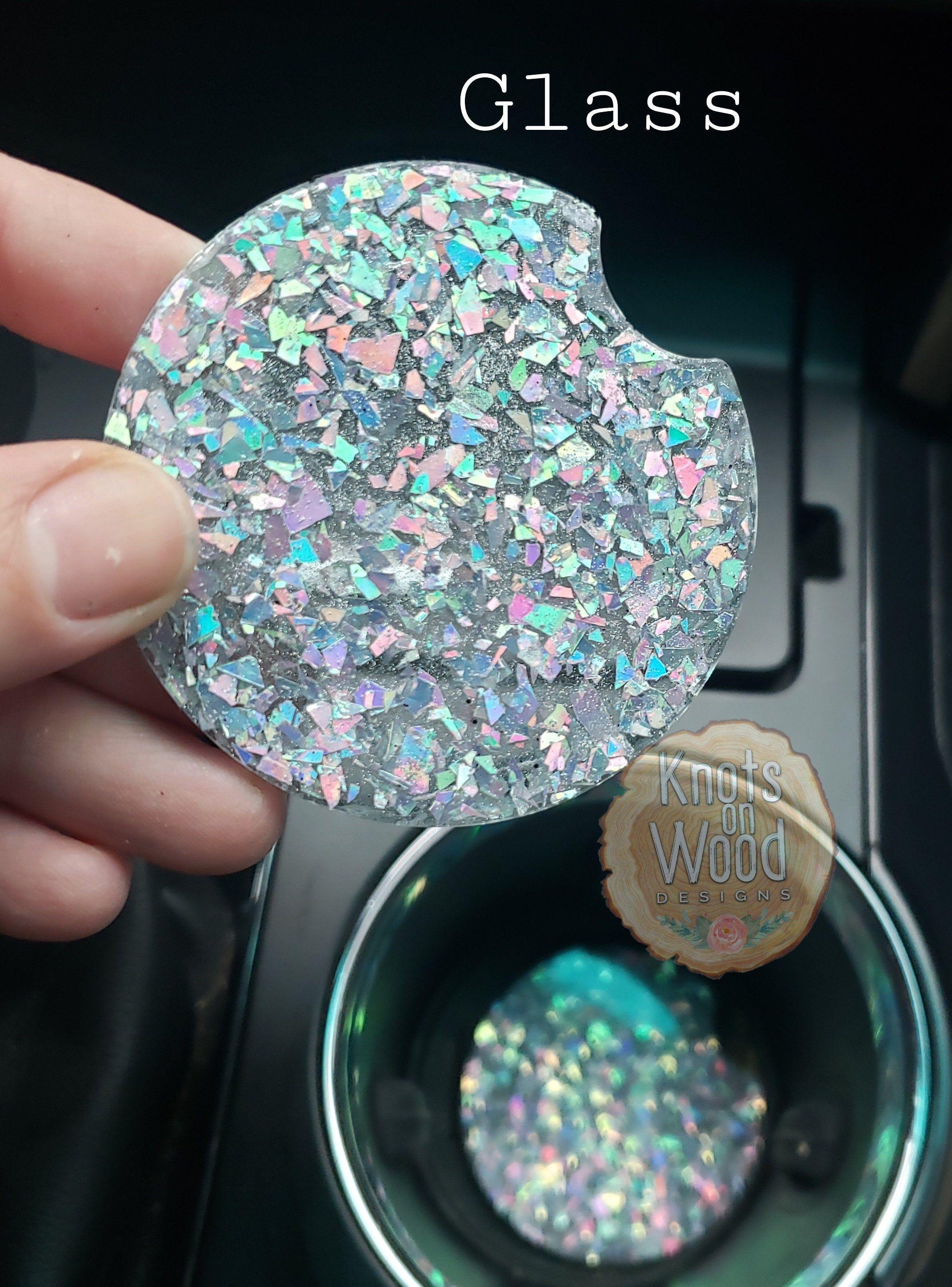 Photo of Glitter Car Coasters  Set of 2  Choose Color  Car Vehicle | Etsy