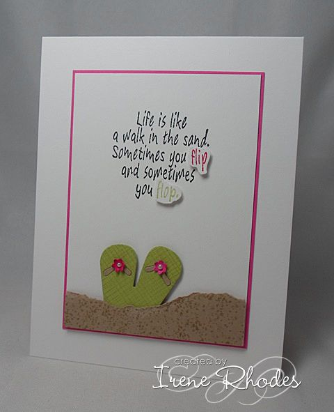 Cas224 You Flip You Flop Flip Flop Cards Card Making Templates Inspirational Cards
