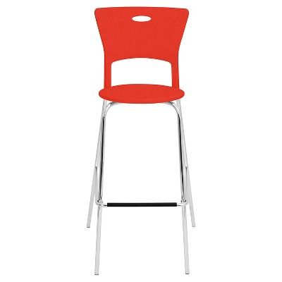 Mimi Stacker 31.5 Barstool Metal/Red (Set of 2) - LumiSource