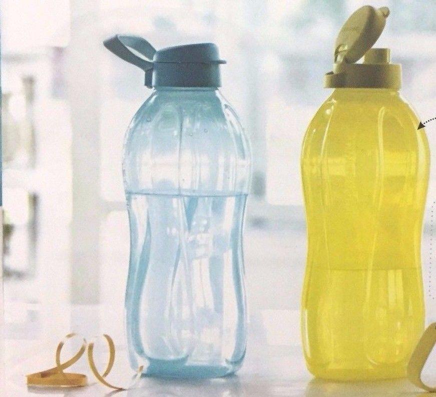 Drink Water Bottles Multi Color* Tupperware one liter fliptop bottles set of 4