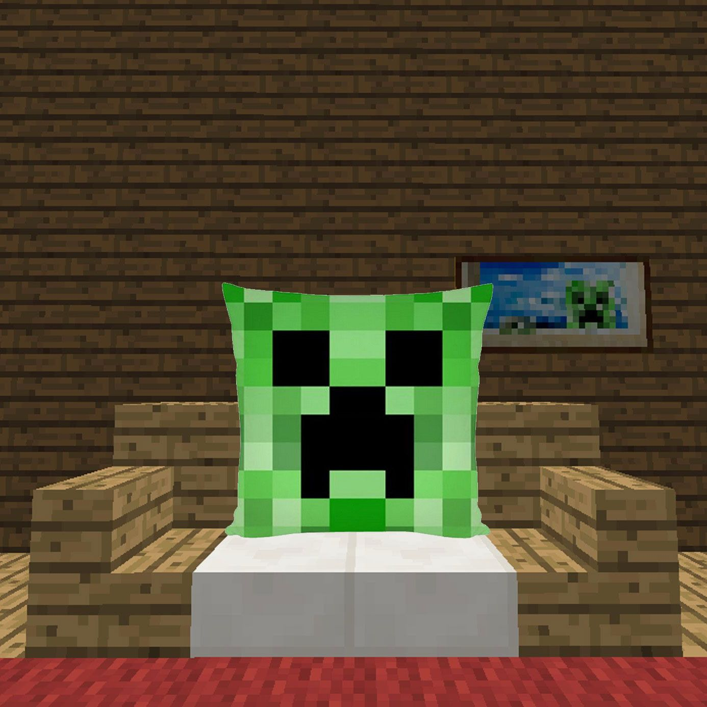 Funky Minecraft Creeper Pillow That Every Minecraft Fan Would Enjoy This I Comfortable Living Room Chairs Scandinavian Dining Chairs Wooden Dining Room Chairs