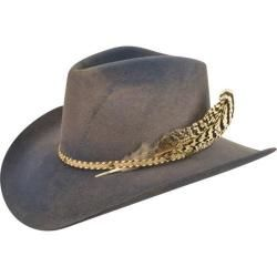 23caf704e0475 The Lucius Cowboy Hat from Bailey Western isn t your average feathered cap.  It comes with a classic Hondo crown