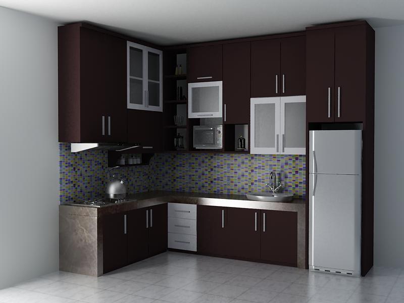 Harga & 70 Model Gambar Kitchen Set Minimalis ...