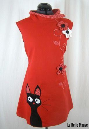 Originale Et Confortable Voici Une Robe En Coton Epais Rouge Avec
