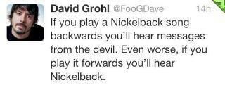 Dave Grohl on Nickelback