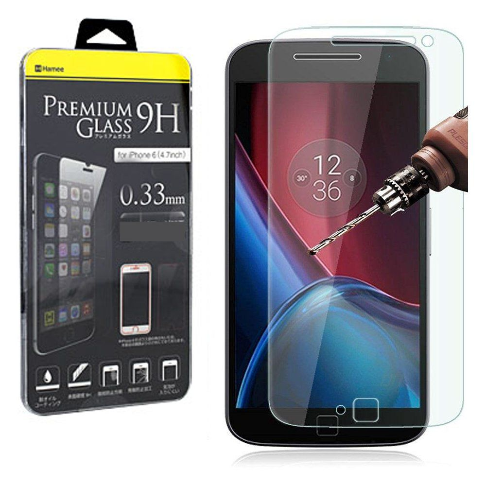 Hamee Premium Tempered Glass For Moto G4 Play - 9H Hardness Toughened Tempered Glass Screen Protector for Motorola G play 4th Gen [Pack of 2] -- Awesome products selected by Anna Churchill