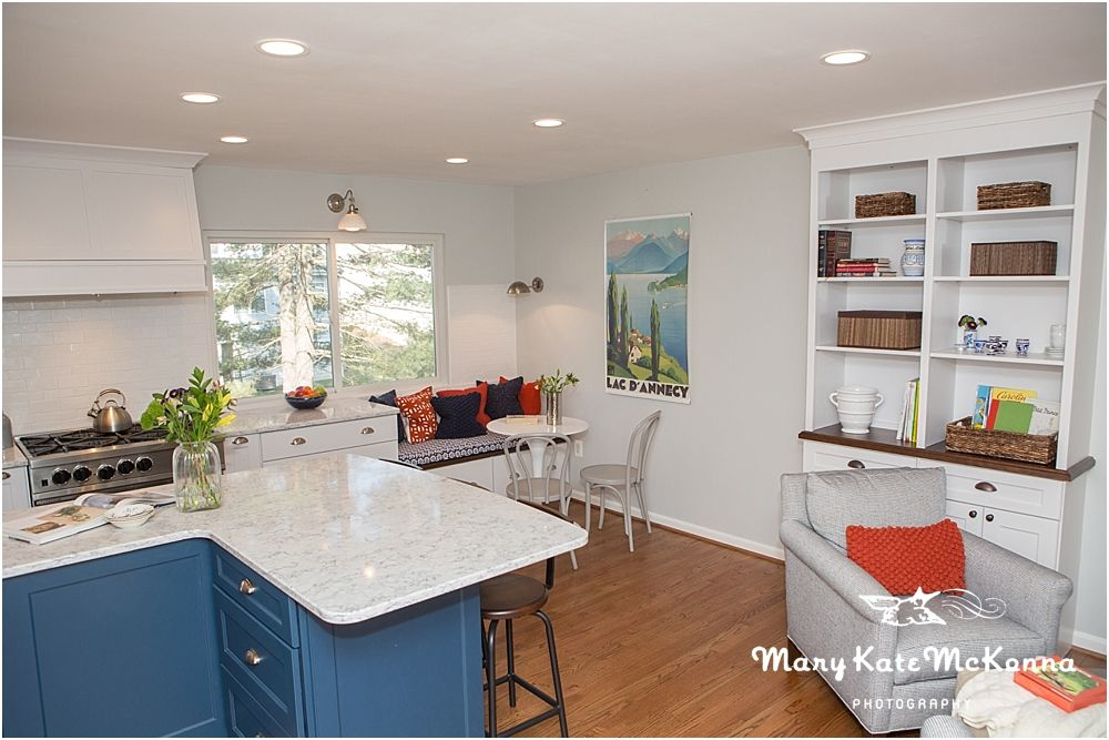 Interior Design Photography :: Classic Blue & White Kitchen Remodel ...