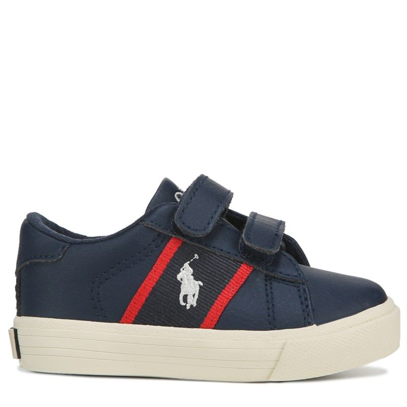 e724d07edf068 Polo by Ralph Lauren Kids' Geoff EZ Sneaker Toddler Shoes (Navy/Red ...