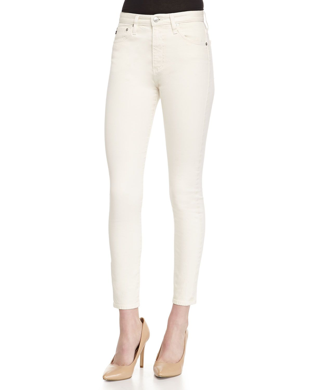 6a03d66fef The Brianna High-Waist Skinny Jeans, Women's, Size: 25, Sulfur Natural -  Alexa Chung for AG