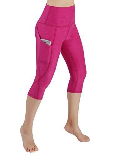 972f826d6 ODODOS High Waist Out Pocket Yoga Capris Pants Tummy Control Workout ...