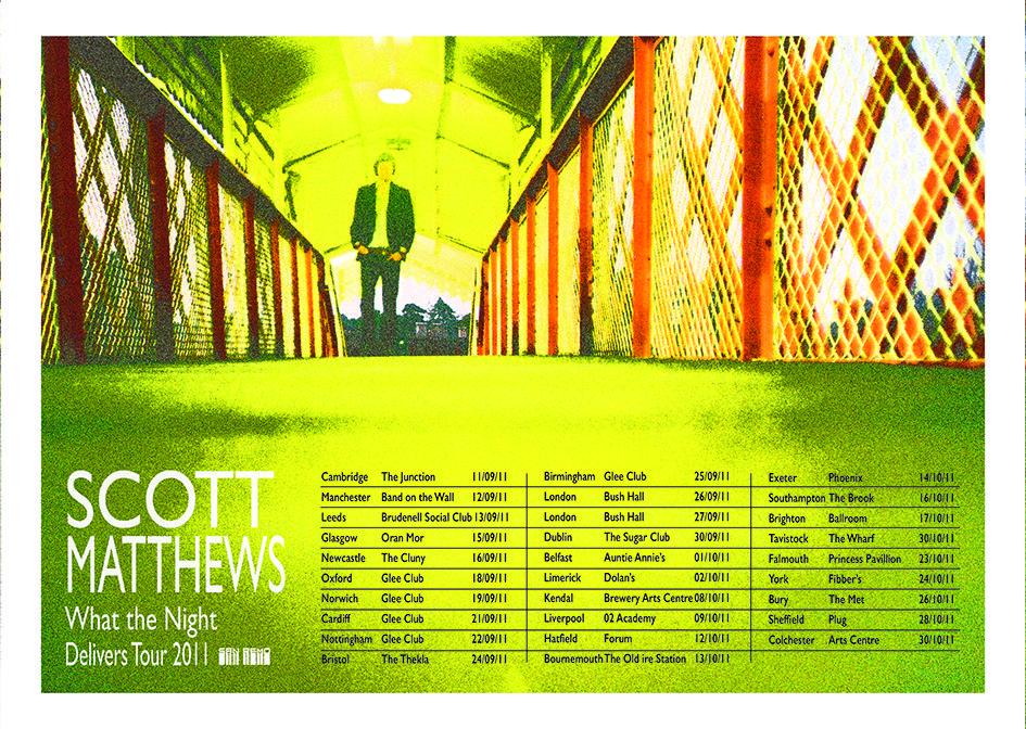 SCOTT MATTHEWS - 2011 TOUR POSTER.