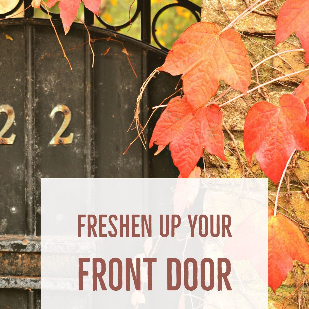 Fall Decorating Tip of the Day! Freshen up your front door
