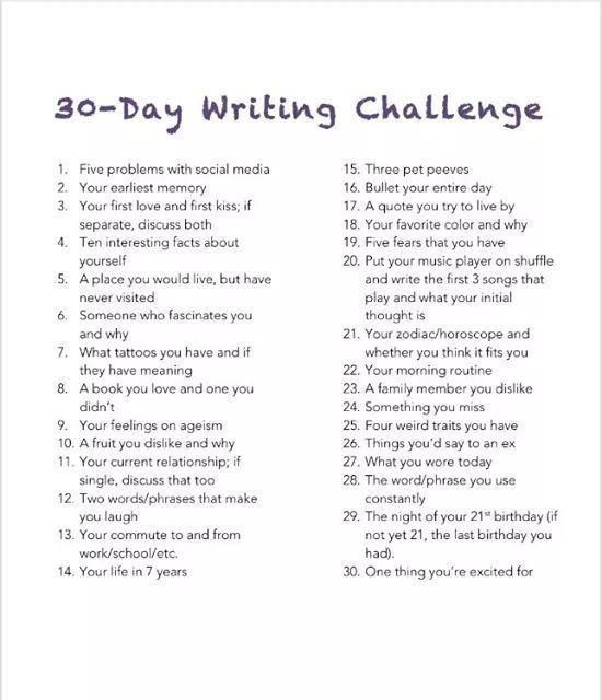 daychallenges writing write prompts list pen to paper  current topics for essay writing in english 2017