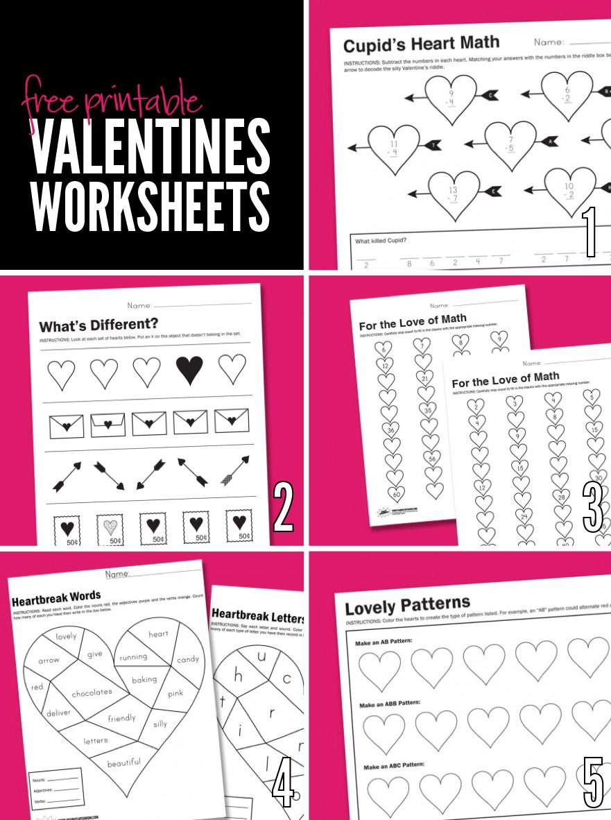 Atractivo Valentine Matemáticas Hojas De Trabajo Gratis ...