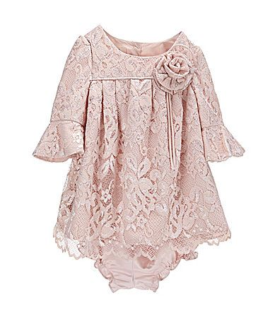 Laura Ashley London 1224 Months Bell Sleeve Lace Dress Dillards