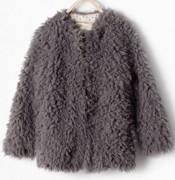 Zara Szara Kurtka Futrzak 116 Cudo 5771800360 Oficjalne Archiwum Allegro Fall Outfits Clothes Fur Coat