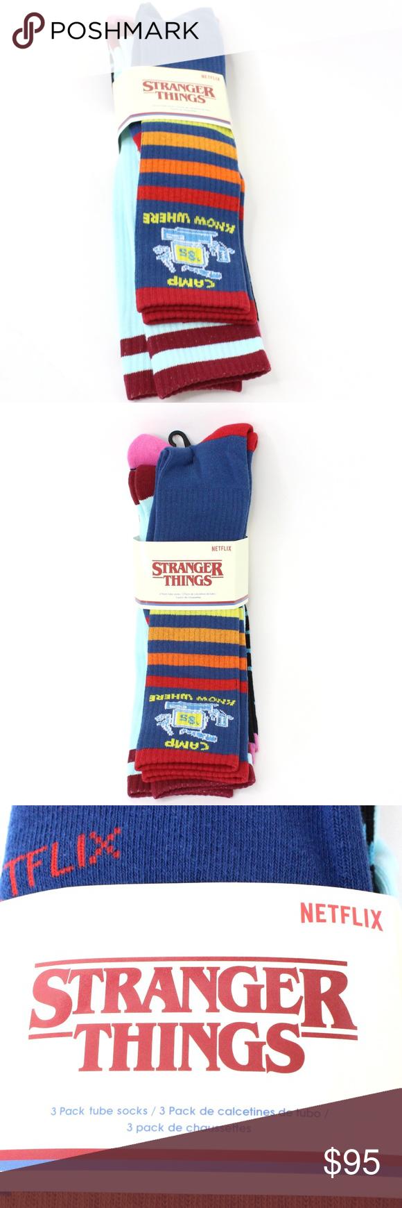 Stranger Things Netflix Tube Socks Funko Unisex Tube Socks Striped Tube Socks Clothes Design