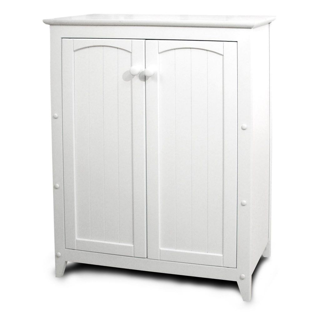 Beau Short Wood Storage Cabinets With Doors