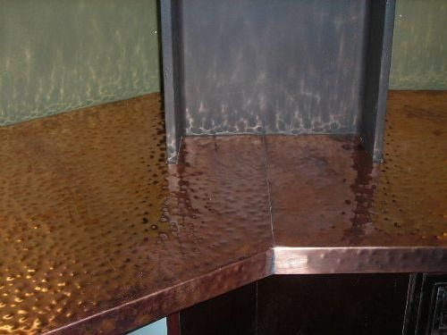 Copper Countertops Hammered Copper Counter Tops Kitchen