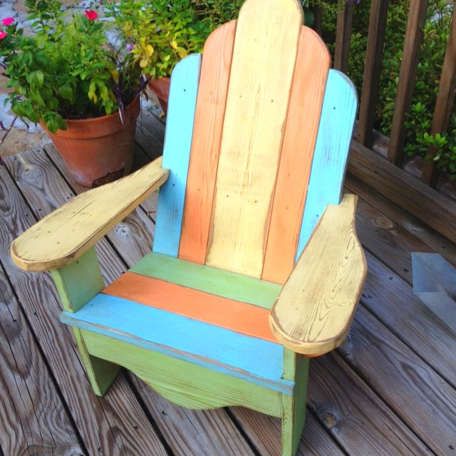 distressed adirondack chairs chair design denmark child s painted and home dec porch
