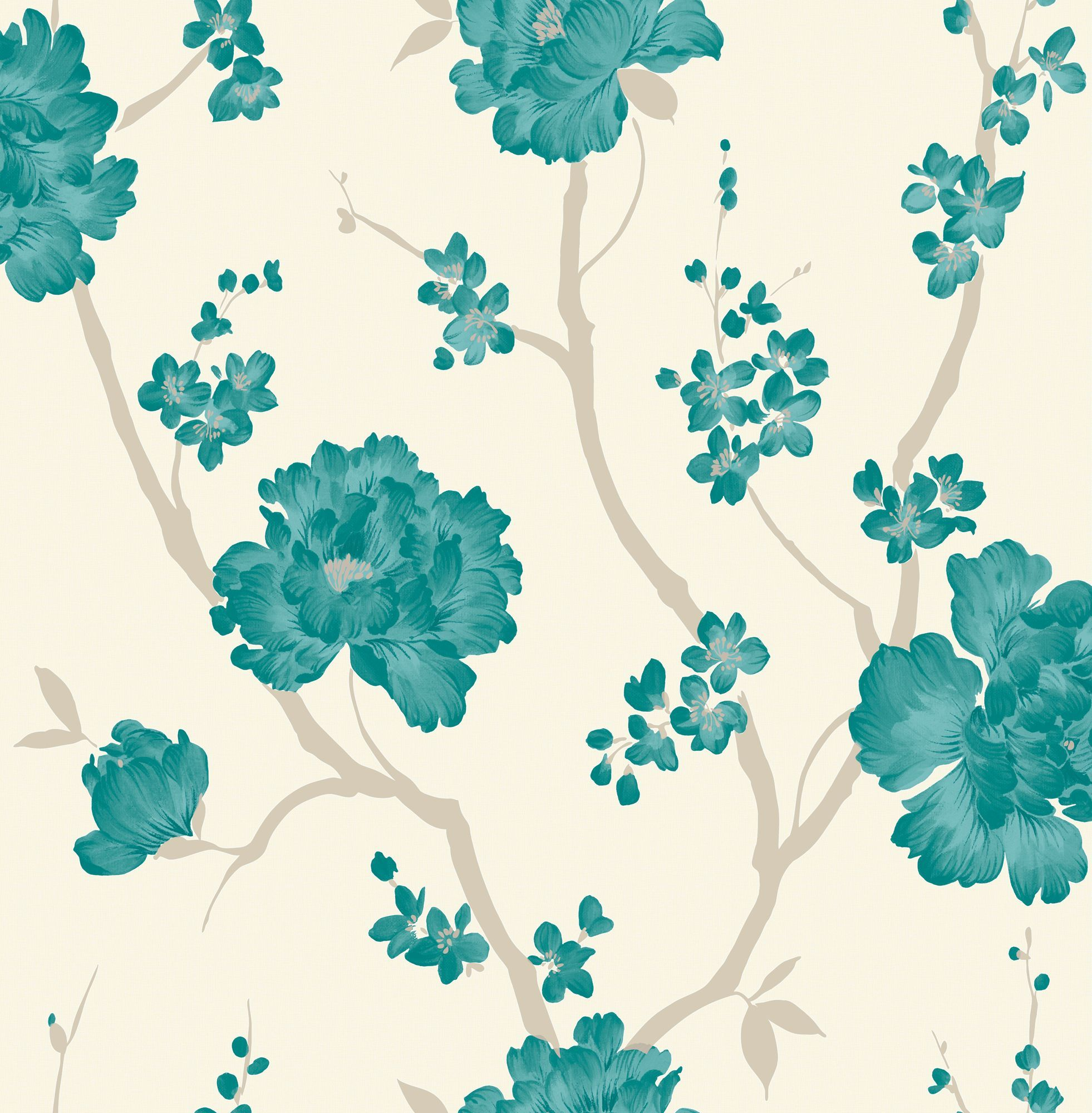 Laurence Llewelyn-Bowen Love Letter Teal Wallpaper | Departments | DIY at B&Q