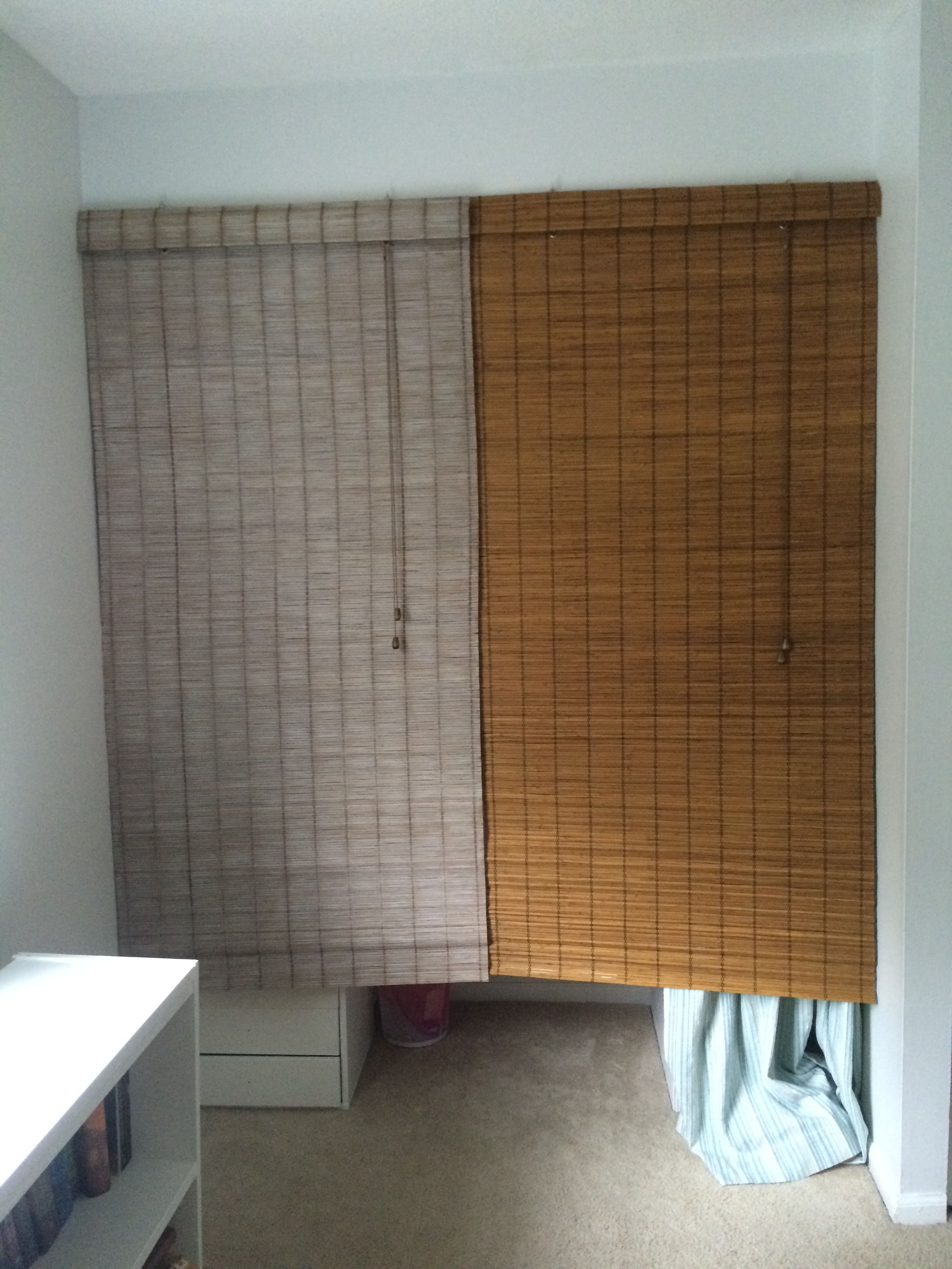 You Can Whitewash Bamboo Blinds Check Out The Difference This One S A