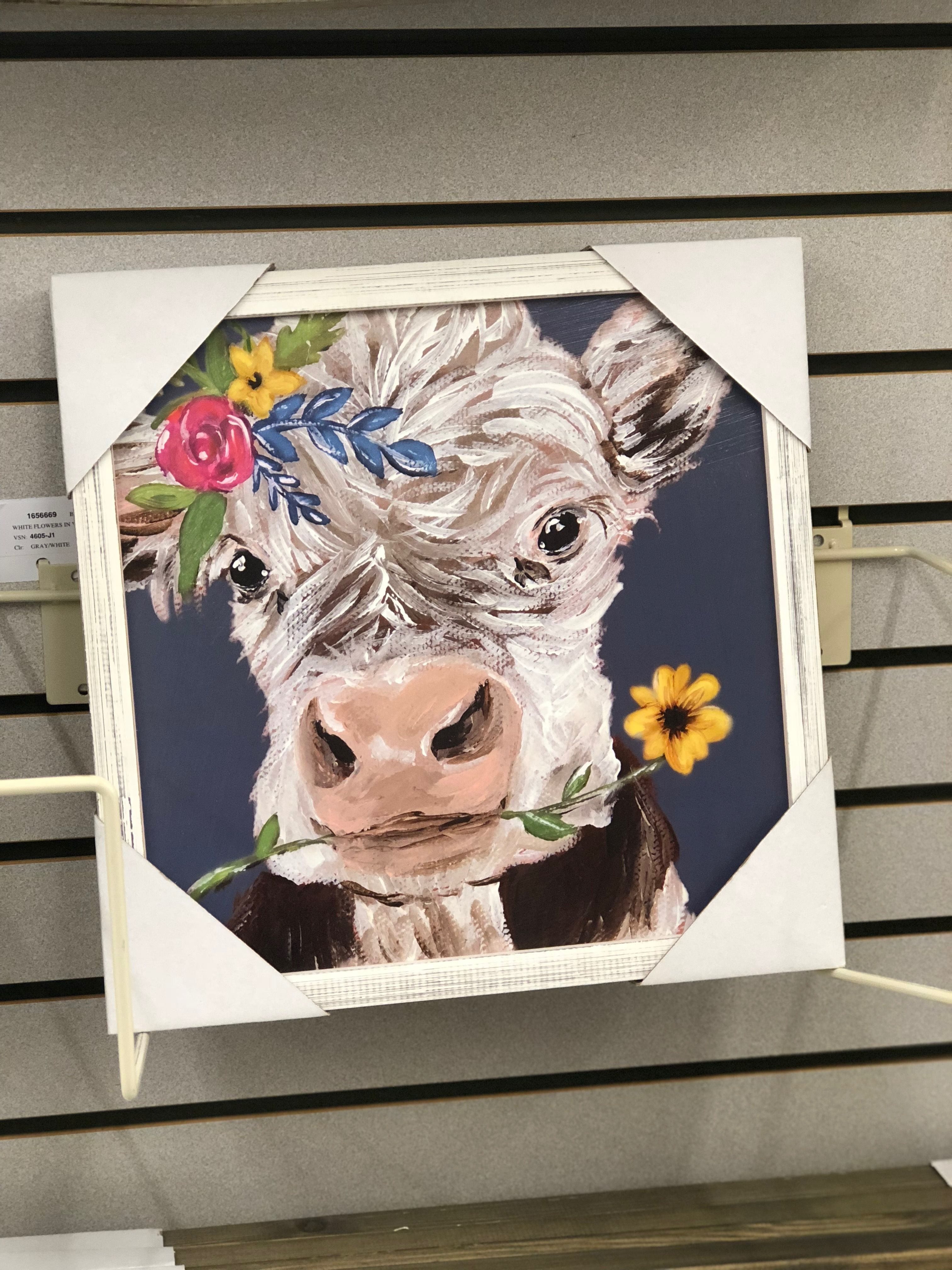 Cow Painting Cow Art Hobby Lobby Reproduction Of Haley Bush Art Haley B Designs Little Miss Dar Cow Painting Cow Paintings On Canvas Farm Animal Paintings